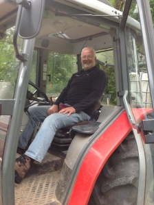 Ian in tractor