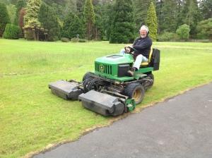 Ian on mower